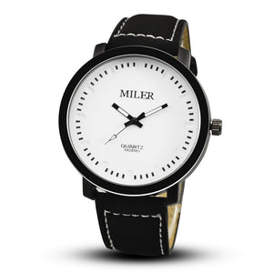 Miler Military Sport Watch - Black White - Watches