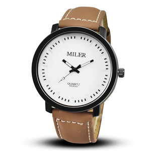 Miler Military Sport Watch - Brown White - Watches