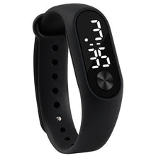 Sport Led Silicone Wrist Watch For Kids - Black - Watches