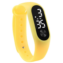 Sport Led Silicone Wrist Watch For Kids - Yellow - Watches