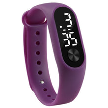 Sport Led Silicone Wrist Watch For Kids - Purple - Watches