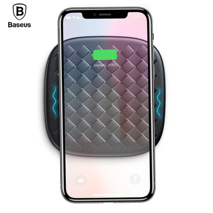 Wireless Charger For iPhone X, 8, Samsung S9, S8 (Fast Charging) - Woven Wireless Charger Nonslip Desktop Charger Pad - Dapper Boulevard