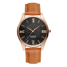 Yazole Mens Watch - Brown-Black-Gold - Watches