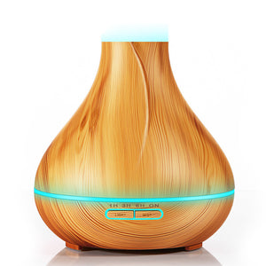400Ml Aroma Essential Oil Diffuser & Ultrasonic Air Humidifier With Wood Grain Led Lights - Light Wood / Au - Lifestyle