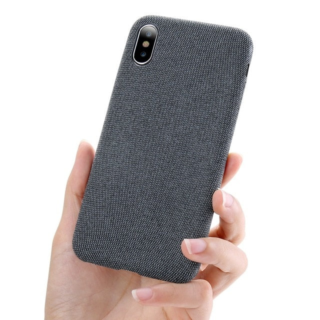 Luxury Soft Cloth Iphone Case - Dark Gray / For Iphone X - Phone Accessories