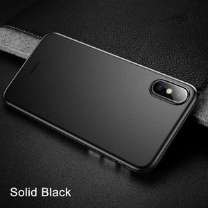 Ultra Thin Slim Frosted Iphone X Case - Solid Black / For Iphone Xs - Phone Accessories