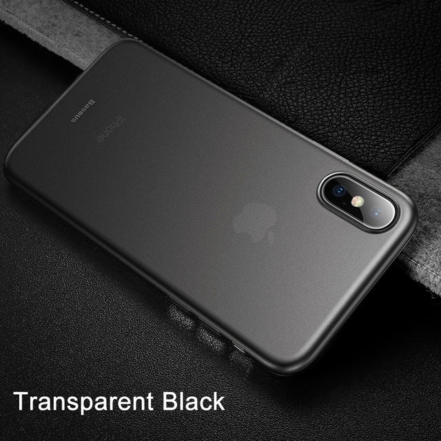 Ultra Thin Slim Frosted Iphone X Case - Transparent Black / For Iphone Xs - Phone Accessories