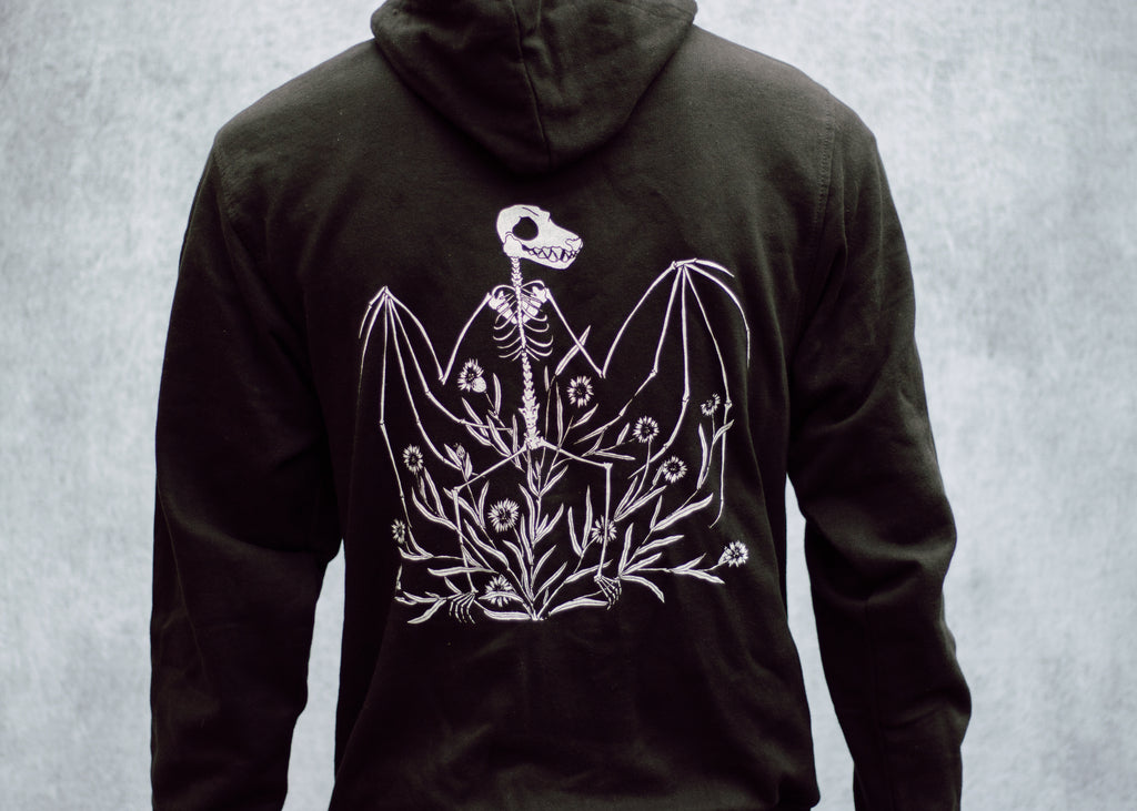 Bat Skeleton and Chicory Hoodie