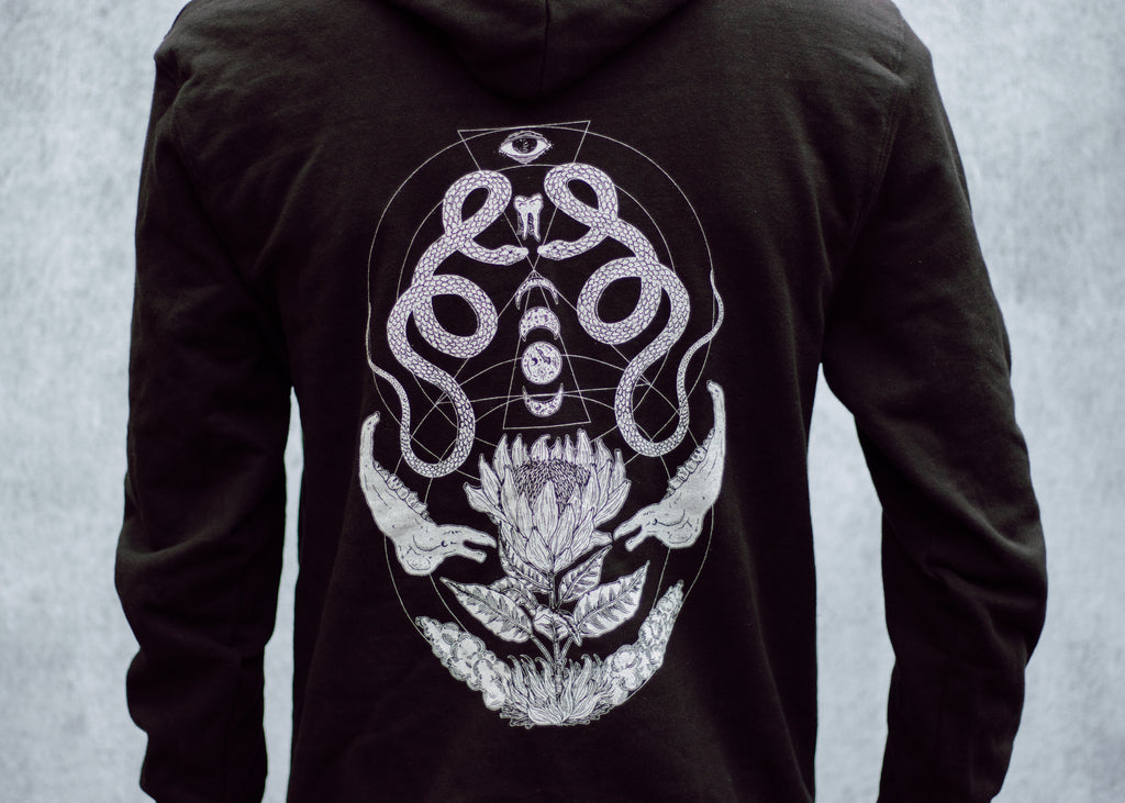 Snake and Bone Fleece Zipper Hoodie