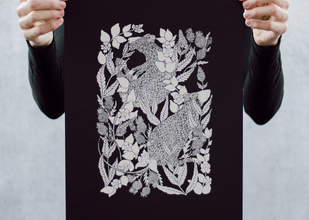 Rat and Thistle Poster