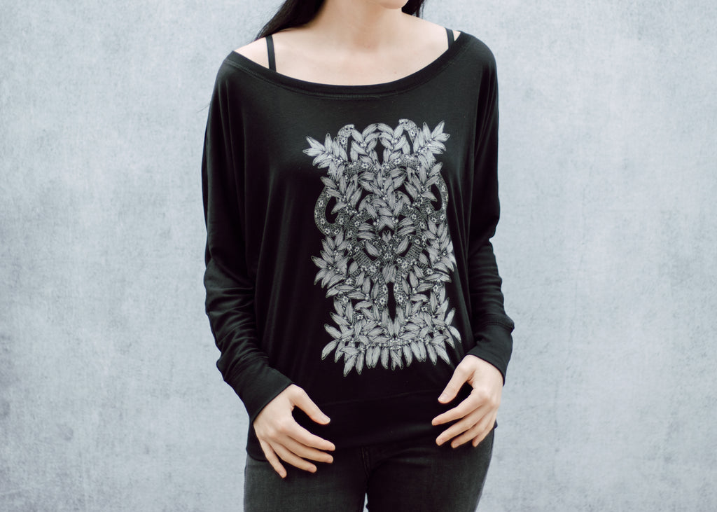 Snake and Mistletoe Batwing Top
