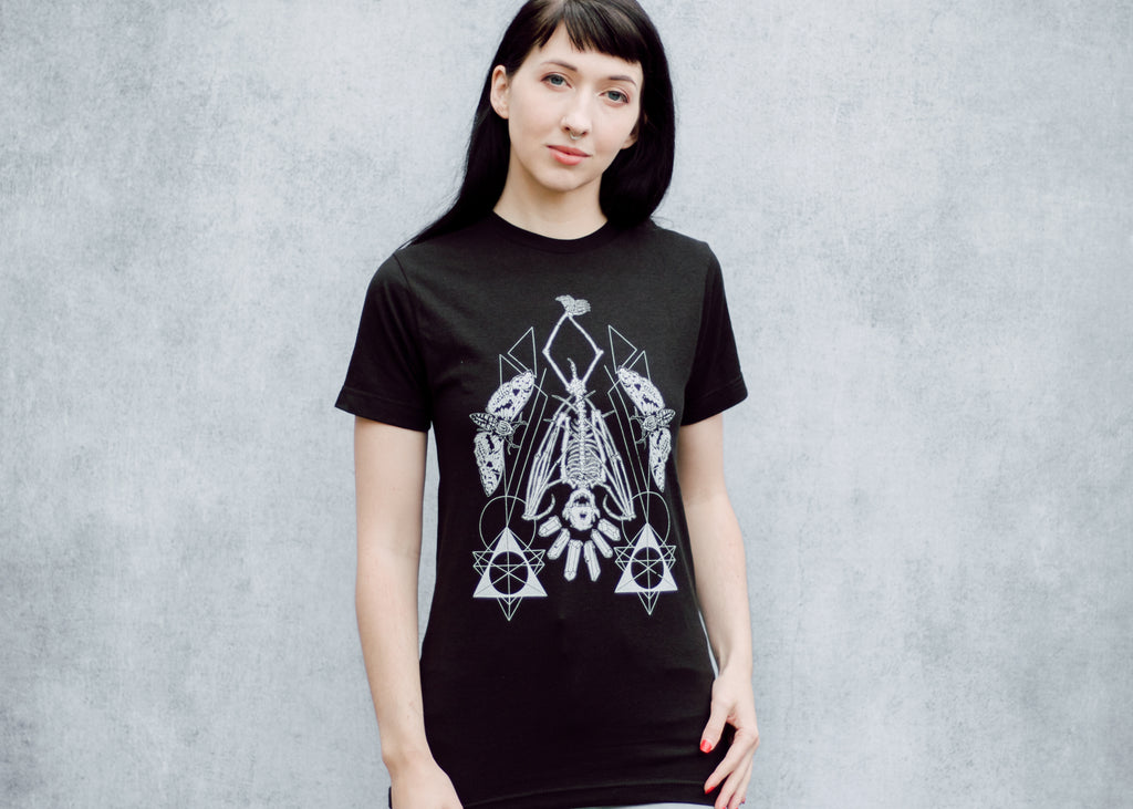 Hanging Bat Skeleton T-Shirt