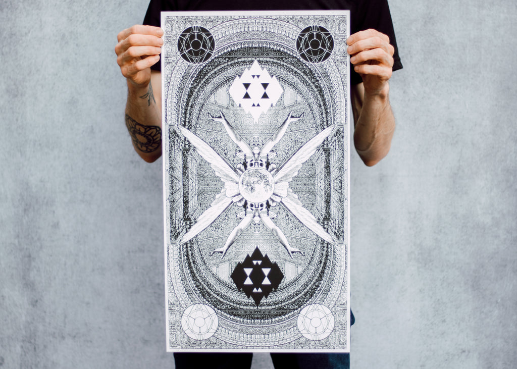 Geometric Collage Poster