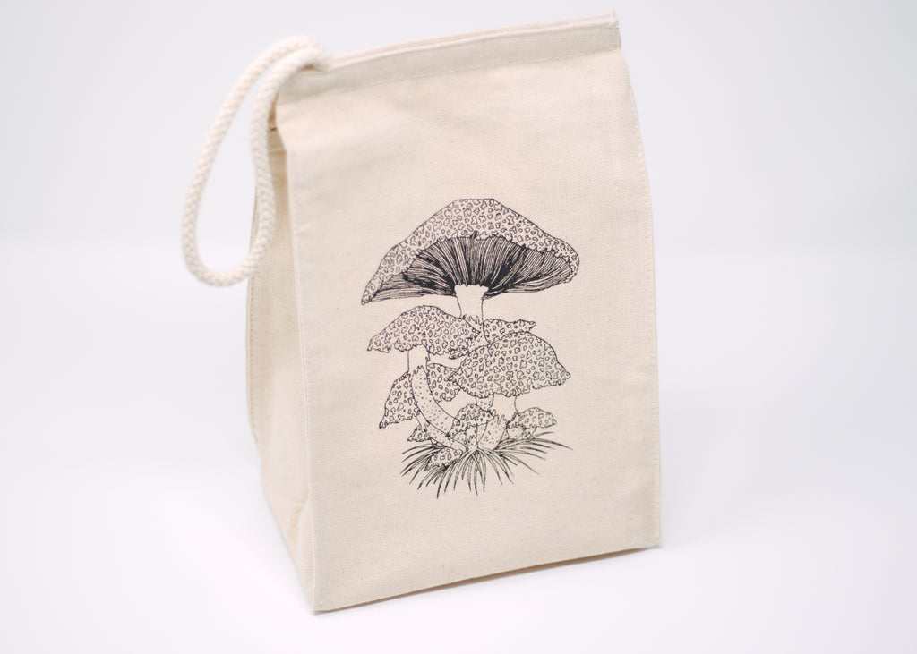 Mushroom Reusable Lunch Bag