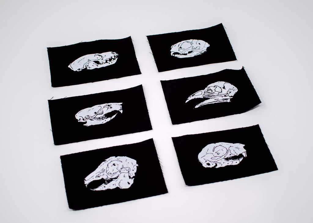 Mini Animal Skulls Patch Set