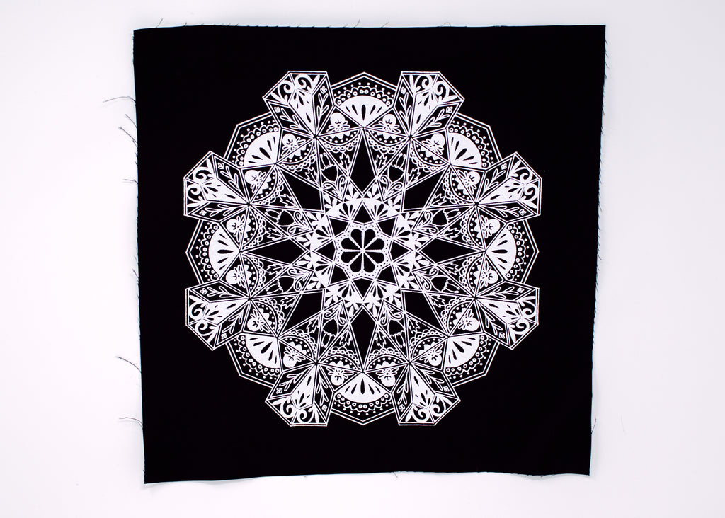 Floral Mandala Back Patch