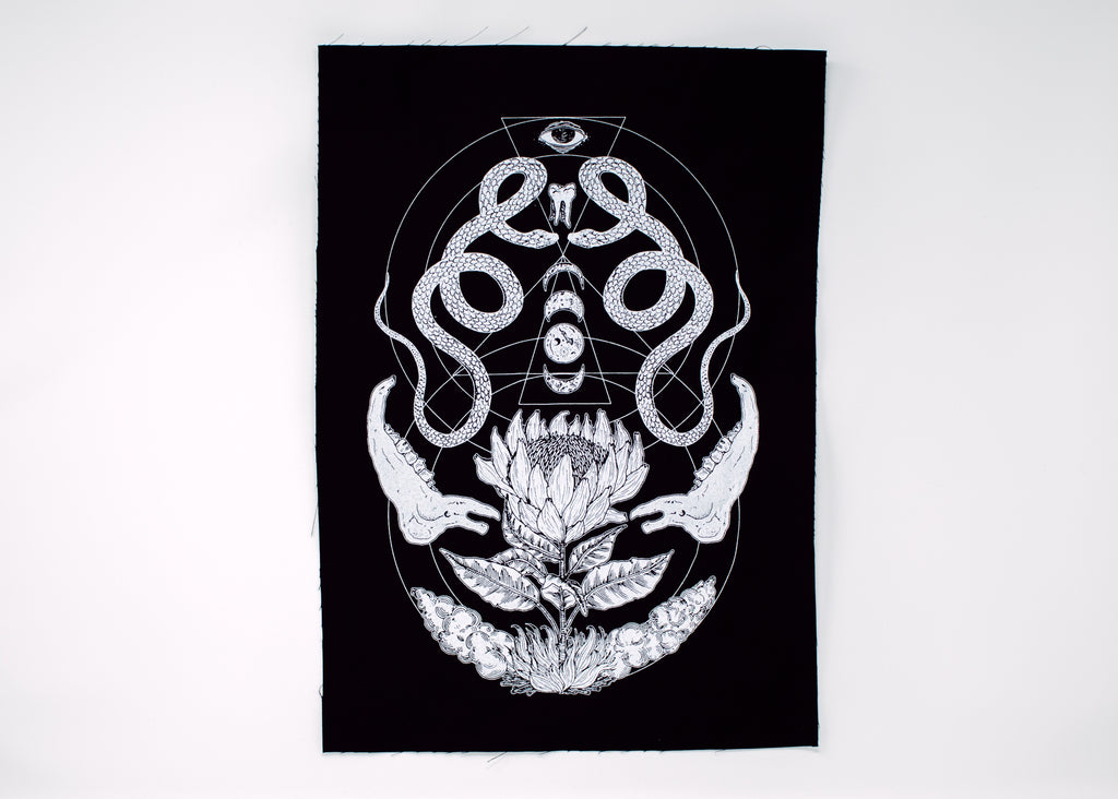 Snake and Bone Back Patch