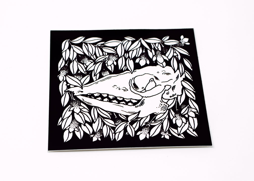 Skull and Botanical Vinyl Sticker 6 Pack