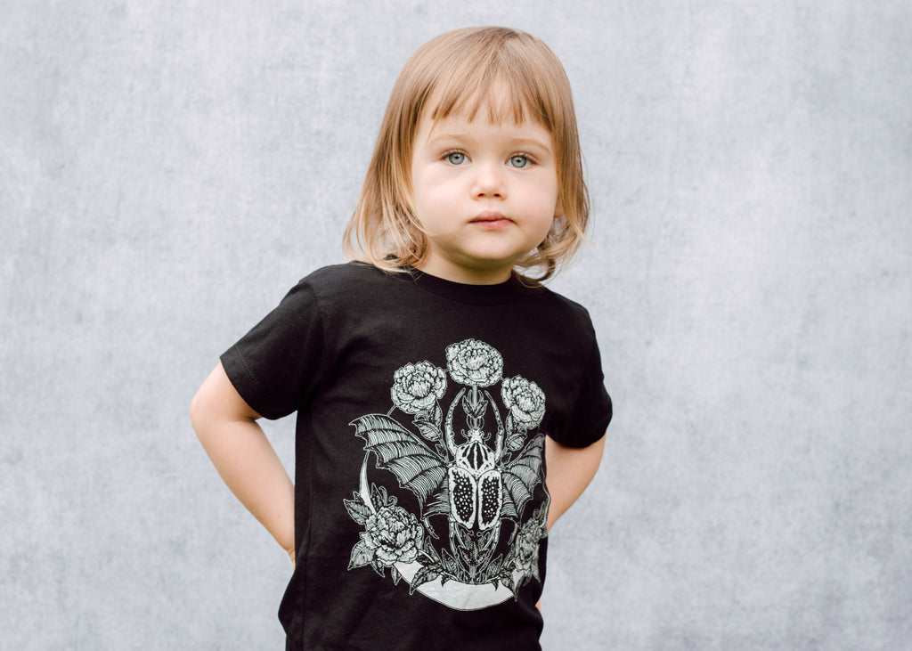 Kids Goliathus Beetle and Crescent Moon T-Shirt