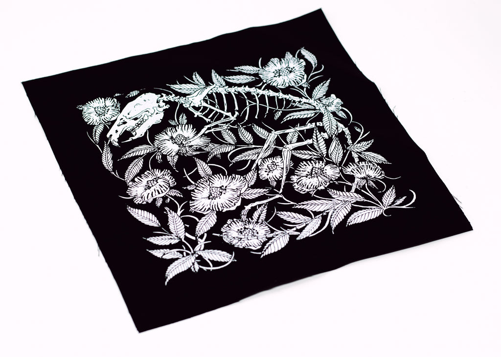 Rat Skeleton and Floral Back Patch