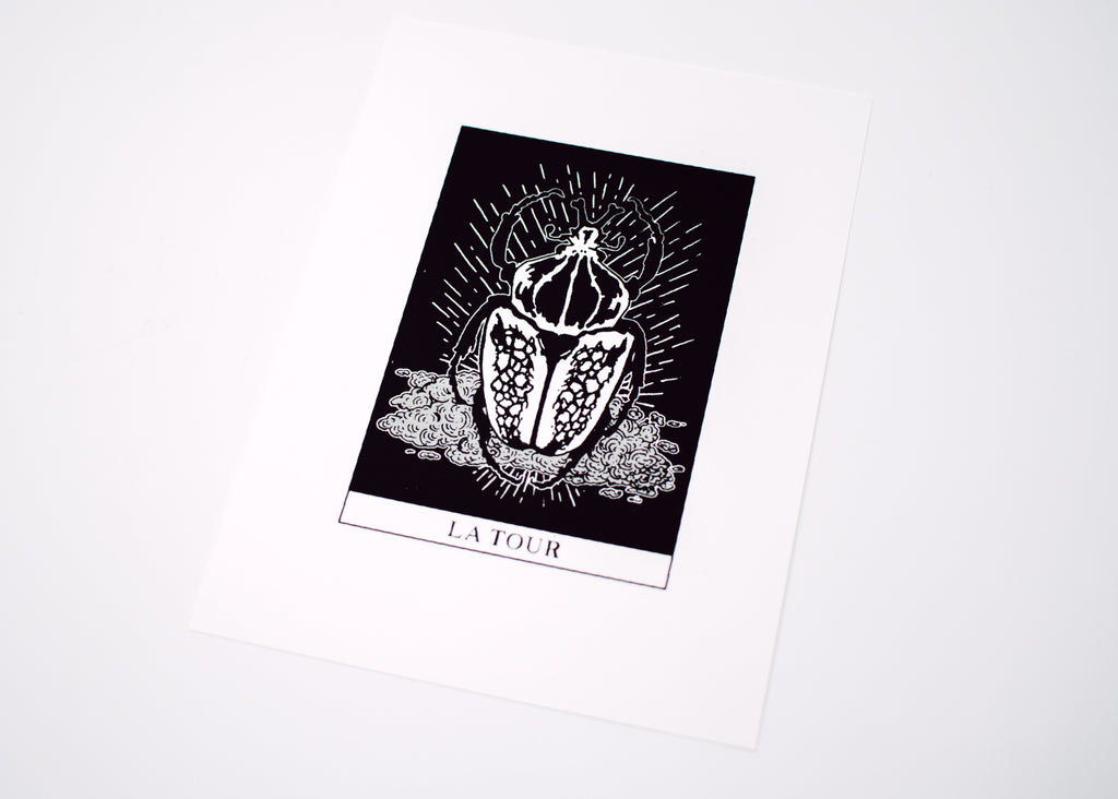 The Tower Tarot Print