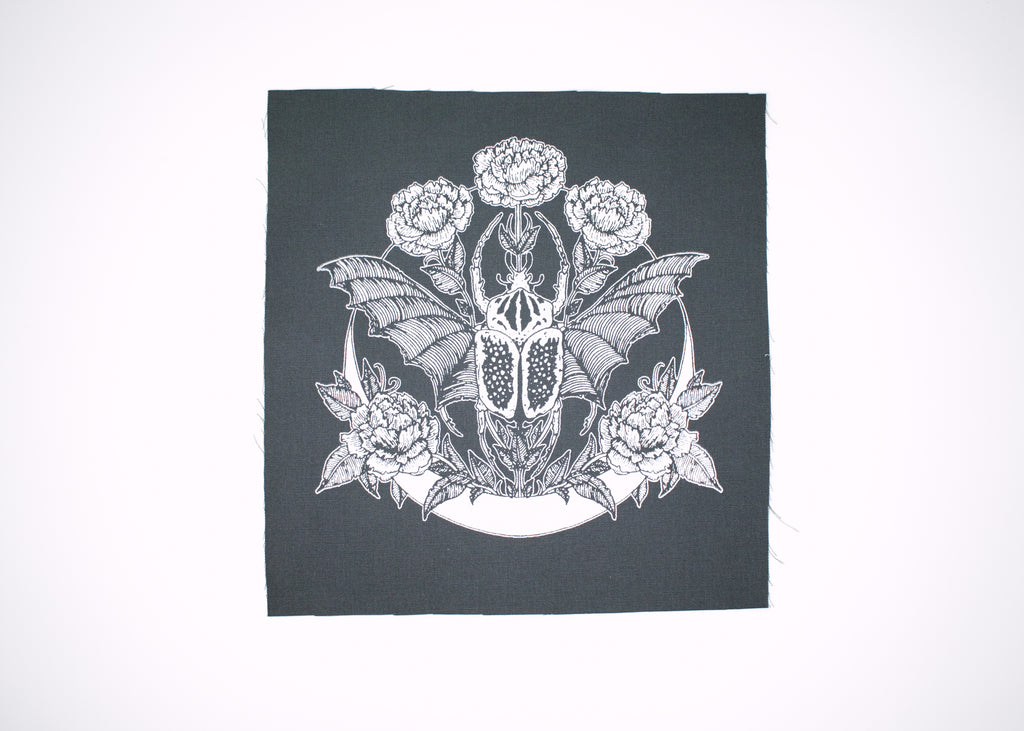 Goliathus Beetle and Crescent Back Patch