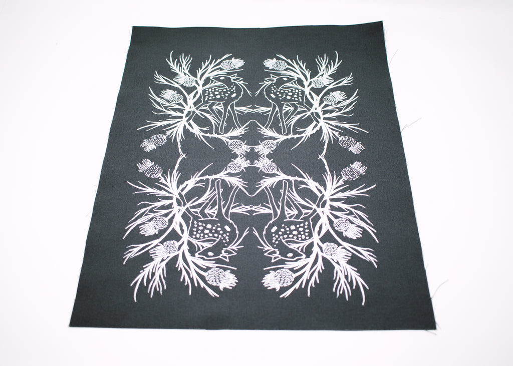 Fawn and Thistle Back Patch