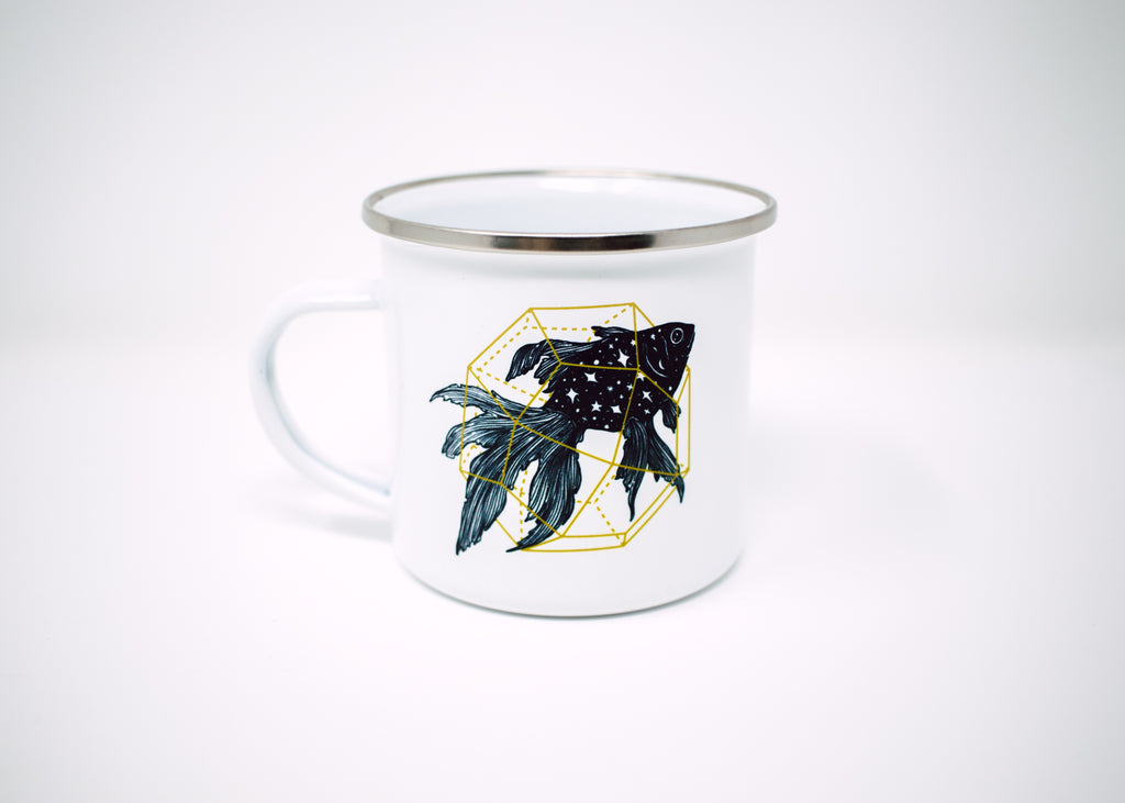 Crystal Cosmic Goldfish Camp Mug
