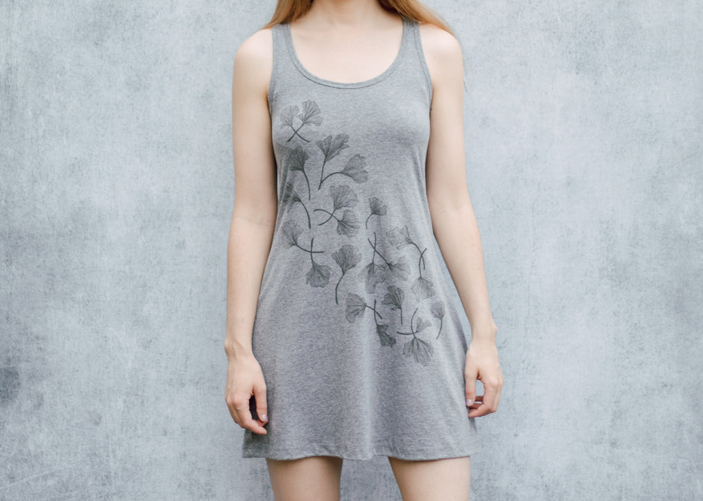 Ginkgo Heather Grey Tank Dress