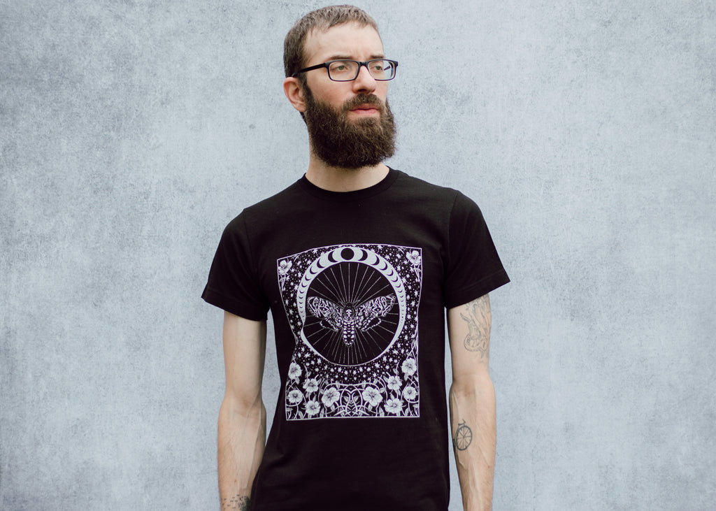Death's Head Moth and Moon T-Shirt