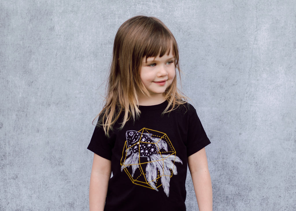 Kids Cosmic Goldfish T-Shirt