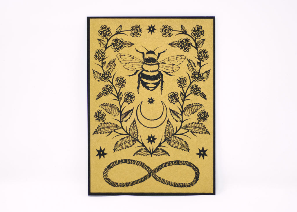 Honeybee Tiny Shrine Print