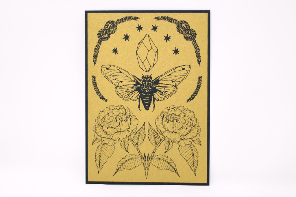 Cicada Tiny Shrine Print
