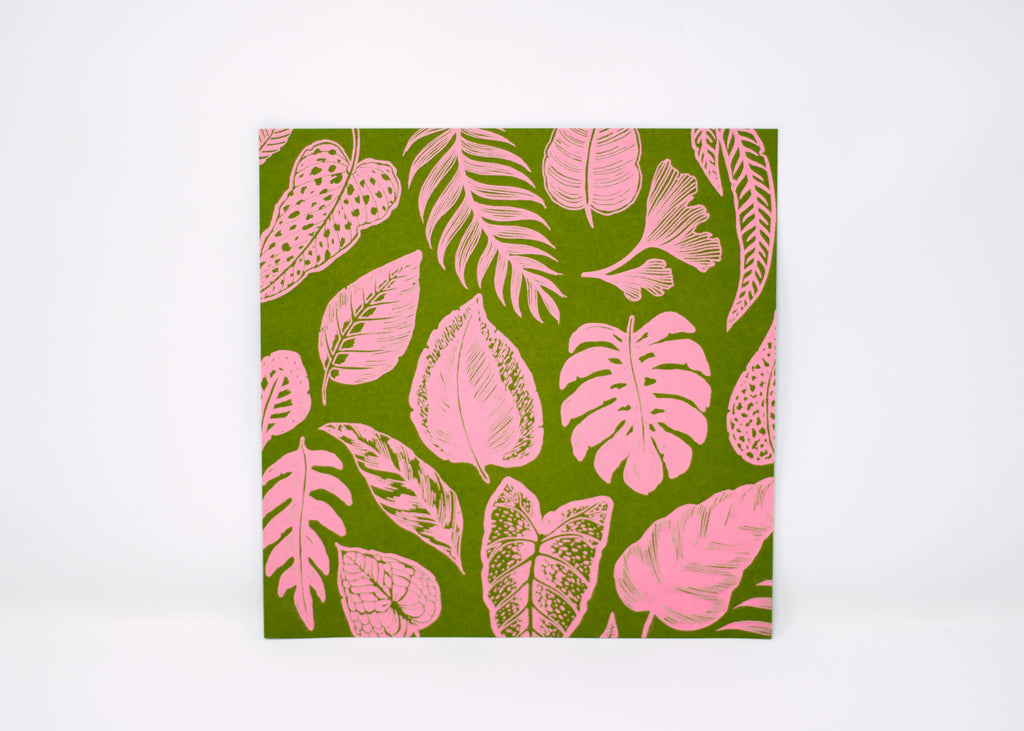 Tropical Plants Pattern Print