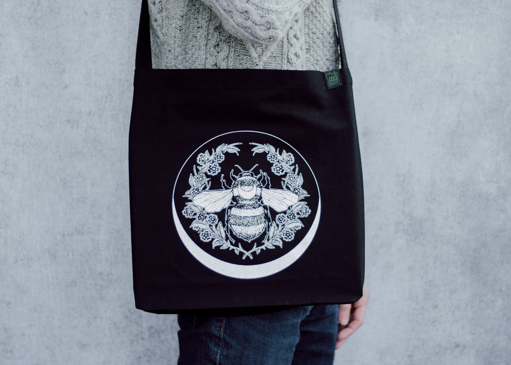 Bee and Moon Sling Bag