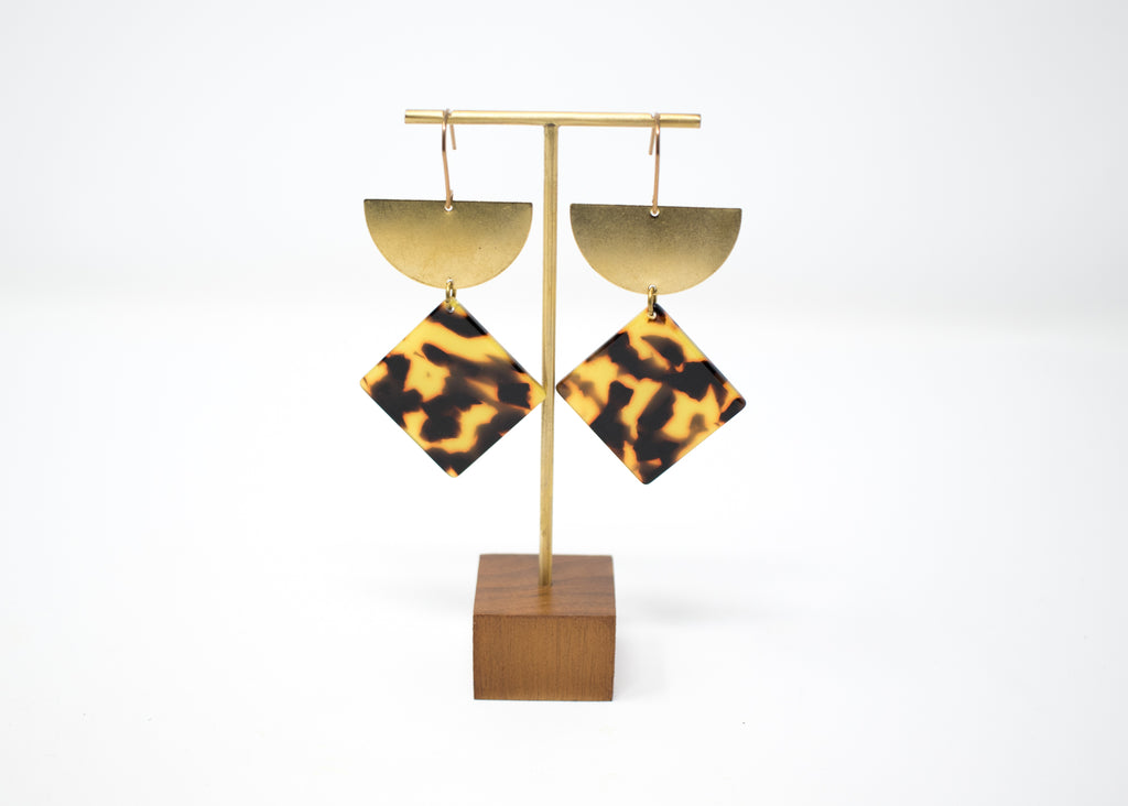 Diamond Tortoiseshell Earrings