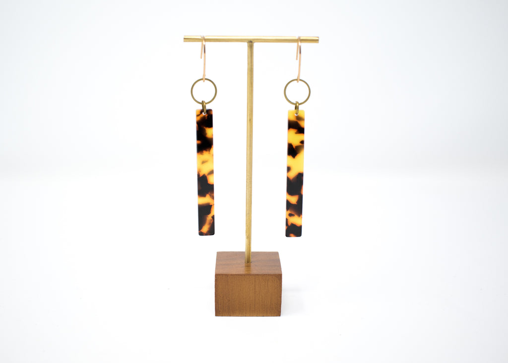 Tortoiseshell Stick Earrings