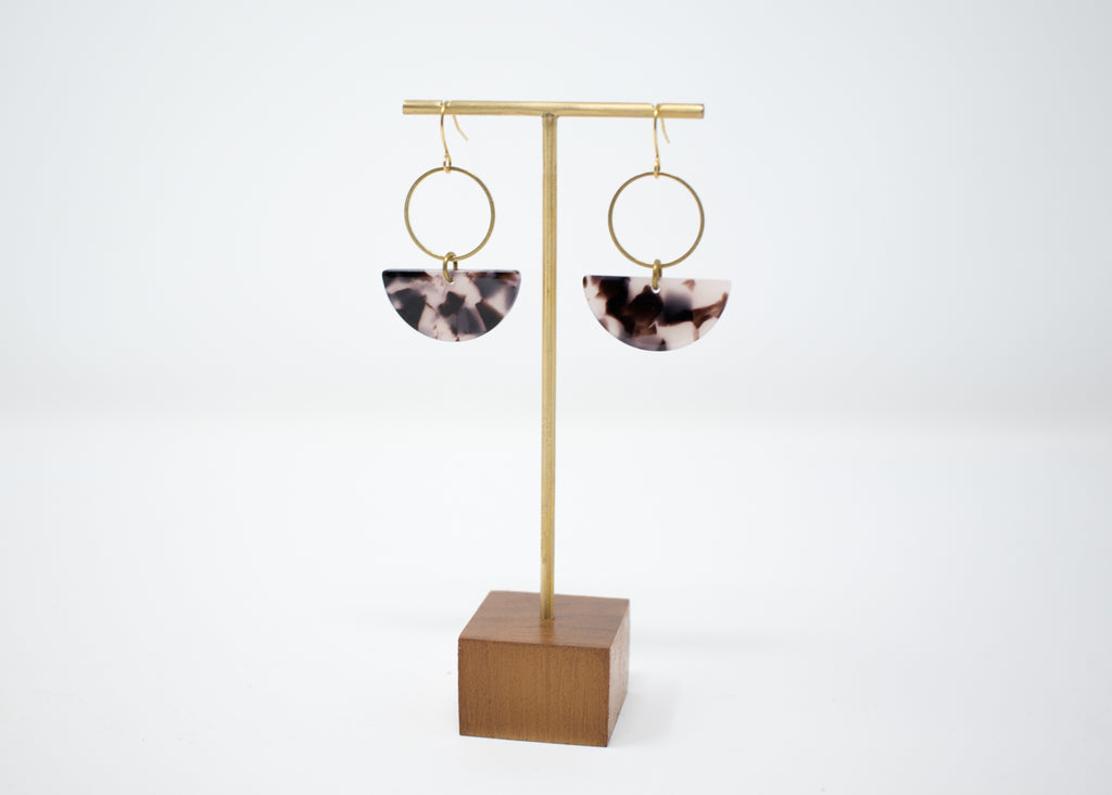 Tortoiseshell Arc Earrings