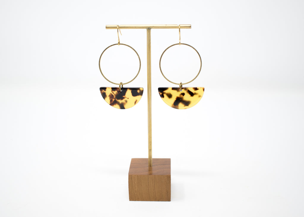 Tortoiseshell Semi Earrings