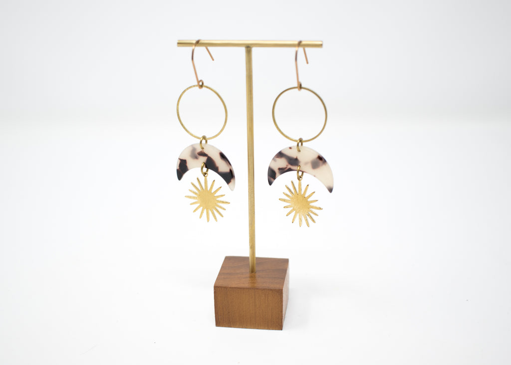 Tortoiseshell Cosmic Earrings