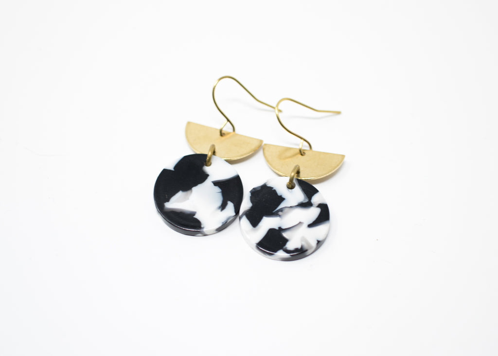 B&W Arc Earrings