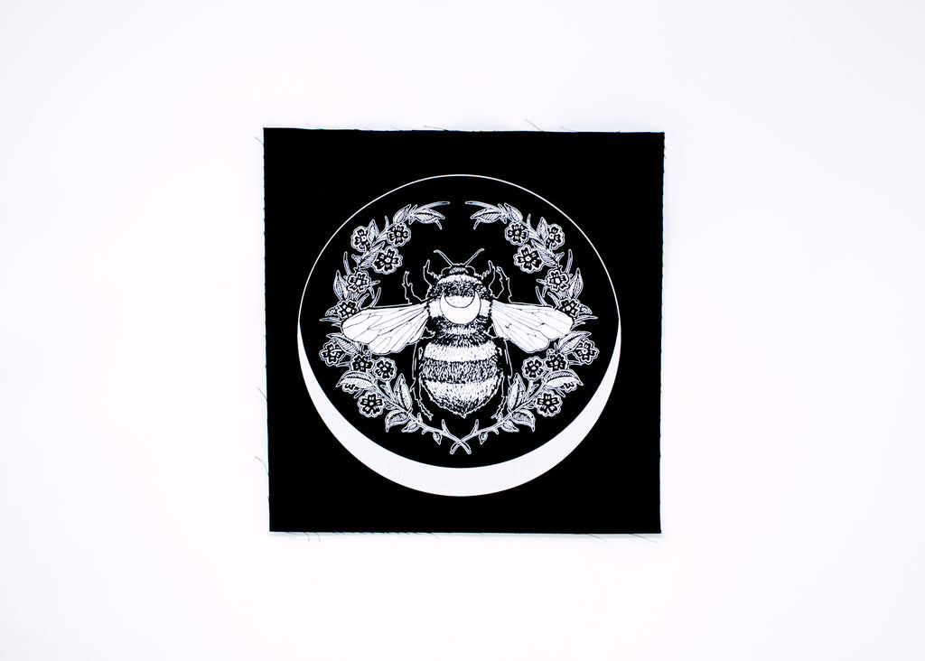 Honey Bee and Crescent Back Patch
