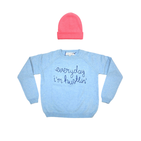 cashmere, beanie, sweater, lingua franca, kids, clothing, tatejones, giftguide