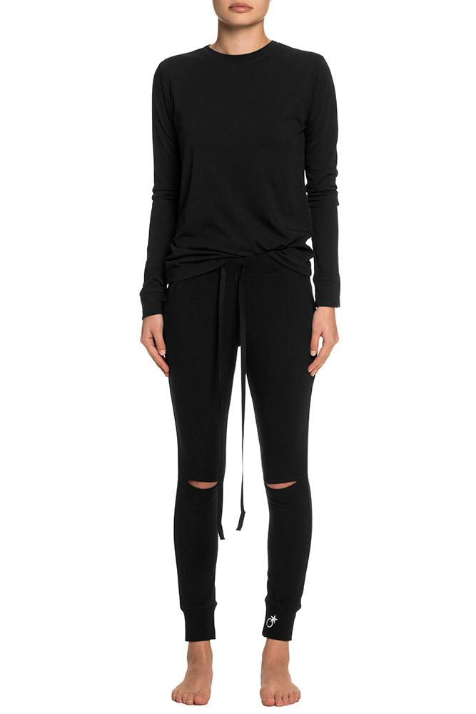 Women's Slit Knee Sweat