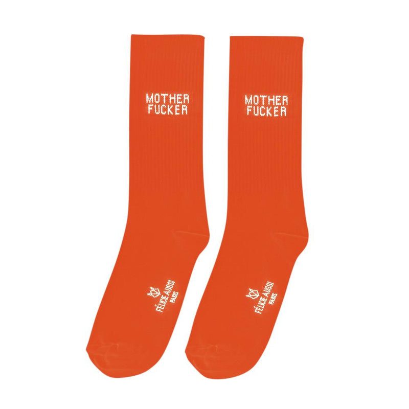 Felicie Aussi Orange MOTHER FUCKER Socks Men's