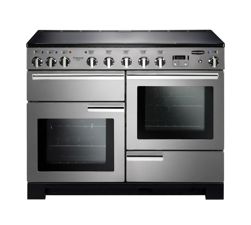 Rangemaster PDL110EISS/C Professional Deluxe 110cm Induction Range Cooker - Stainless Steel/Chrome 101540