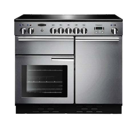 Rangemaster PROP100ECSS/C Professional Plus 100cm Electric Range Cooker - Stainless Steel/Chrome 112350