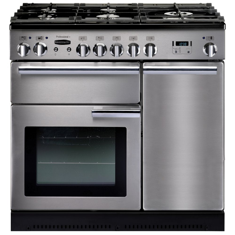 Rangemaster PROP90DFFSS/C Professional Plus 90cm Dual Fuel Range Cooker - Stainless Steel
