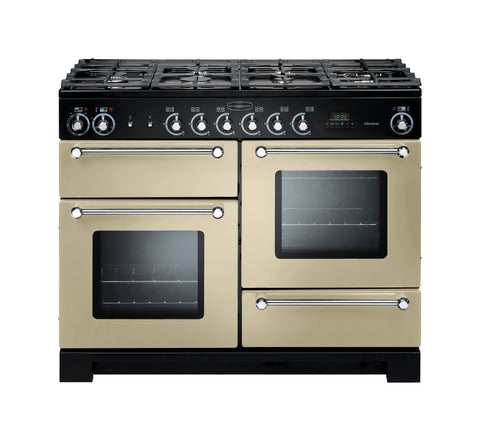 Rangemaster Kitchener KCH110NGFCR/C 110cm Gas Range Cooker - Cream/Chrome 116700