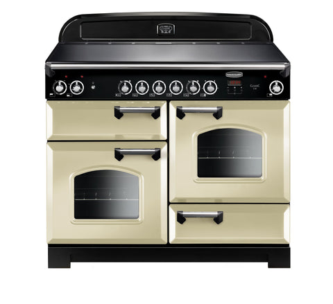 Rangemaster CLA110ECCR/C Classic 110cm Electric Range Cooker - Cream/Chrome 117520